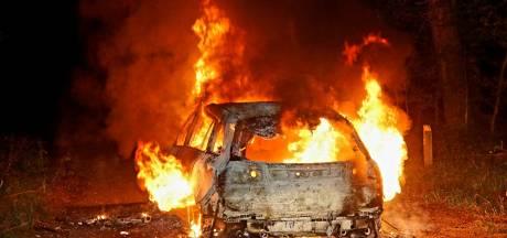 Gestolen auto gedumpt en in brand gestoken in bossen Loon op Zand