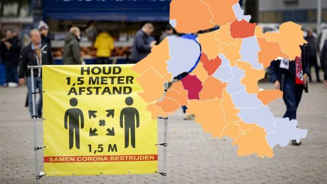 KAART | Nunspeet ziet aantal besmettingen bijna verdubbelen en Oldebroek en Staphorst kleuren donkeroranje