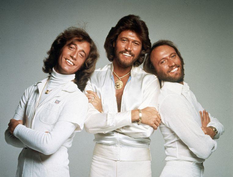 Robin, Barry en Maurice Gibb van de Bee Gees. Beeld AP