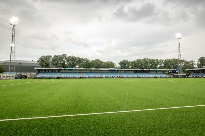 Het Jan Louwers Stadion, vrijdag het toneel van de wedstrijd tussen FC Eindhoven en FC Volendam.