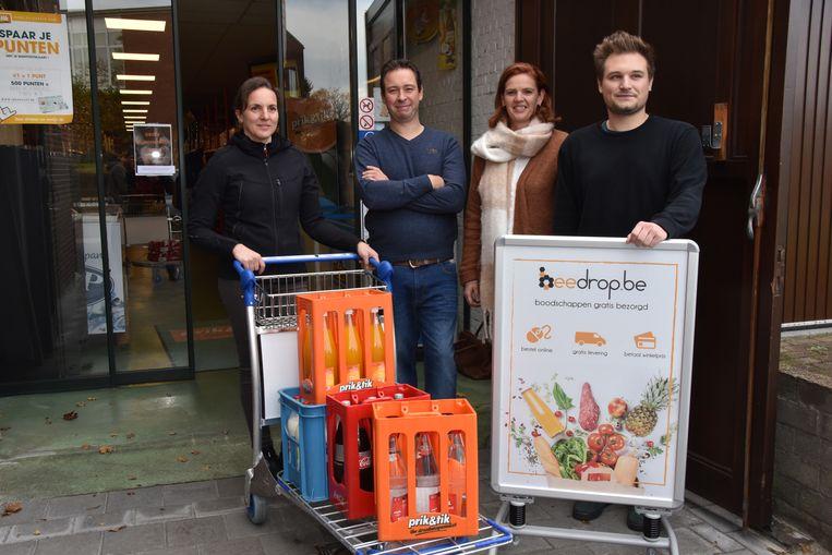 Linda Proost (Prik&Tik), Gert Willems en Anke De Visser (Bakkerij Willems) en Juha Trombini (Beedrop.be).