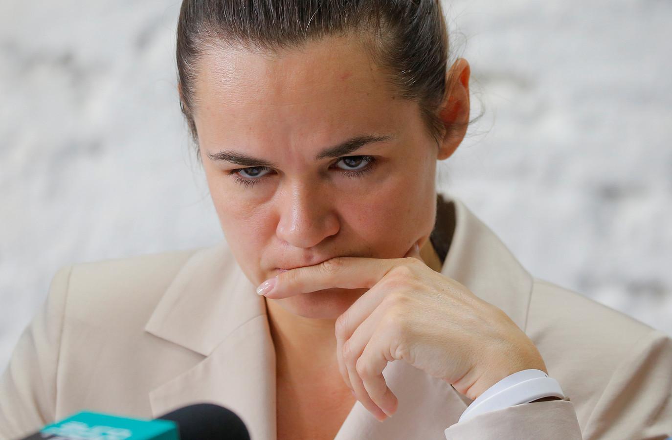 De Wit-Russische oppositieleider Svetlana Tichanovskaja.