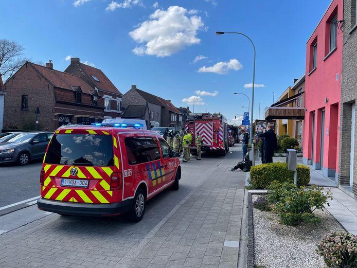 De brandweer van de zone Midwest voerde langs de Iepersestraat in Roeselare een controle uit.
