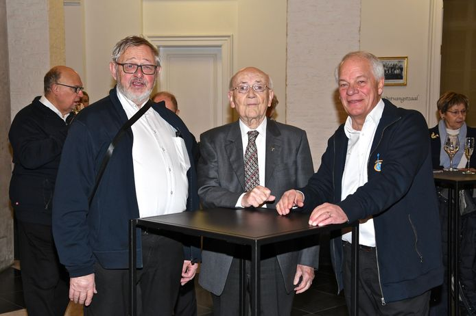 60-jarig bestaan Banjo-Orkest - Jacques Lecluyze, Alfons Bouckaert en Marc Decramer