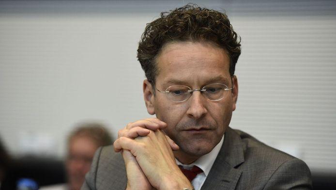 Eurogroepvoorzitter Jeroen Dijsselbloem, donderdag in Berlijn.