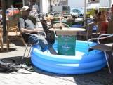 Vlissings café voorziet terras van voetenbadjes