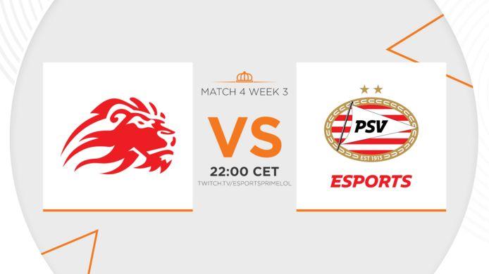 Dutch League-titanen LowLandLions en PSV Esports nemen het vanavond tegen elkaar op. Beide teams kunnen een overwinning goed gebruiken in de strijd om de play-offs.
