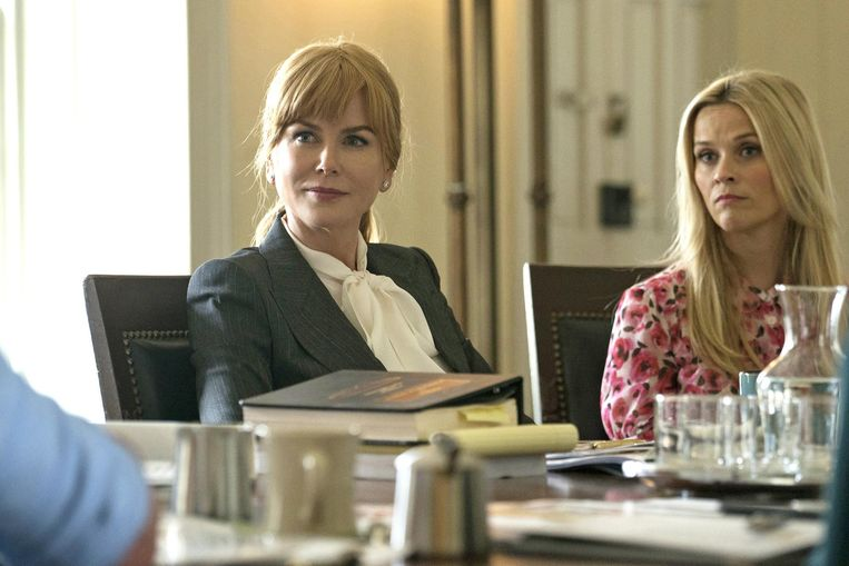 Nicole Kidman en Reese Witherspoon in de HBO-reeks 'Big Little Lies'. Beeld RV HBO