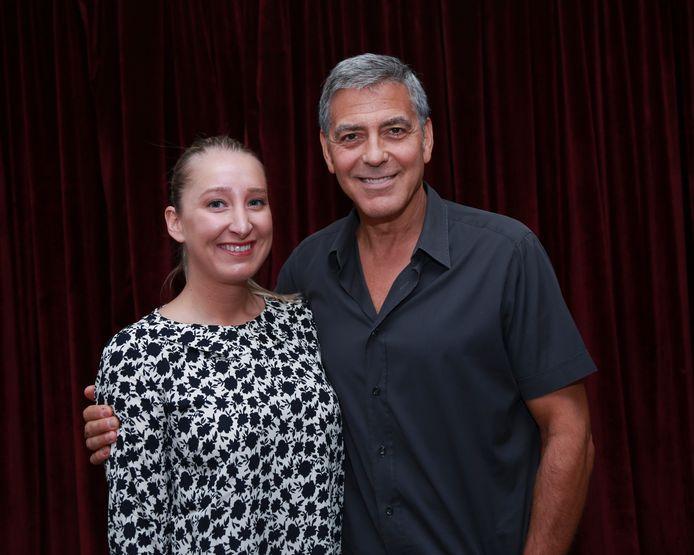 Kristien Gijbels en George Clooney