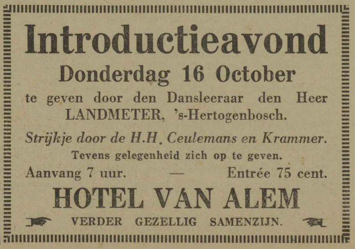 De succesvolle musici Ceulemans en Krammer speelden in 1930 met hun orkestje tijdens de introductieavond van een dansleraar