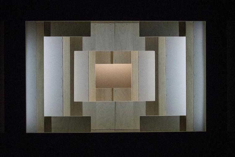 'Waldeinsamkeit', een kijkdoos van Benjamin Verdonck en Lucas Van Haesbroeck. Beeld © kurt van der elst | kvde.be