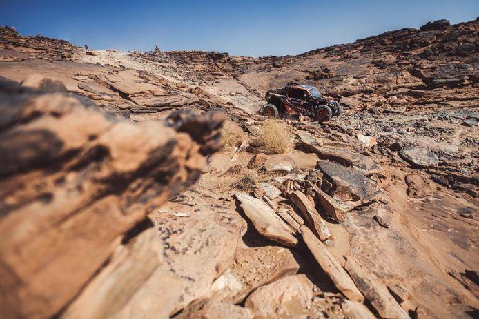 De buggy van Kees Koolen en Jurgen van den Goorbergh in de Dakar Rally 2021.