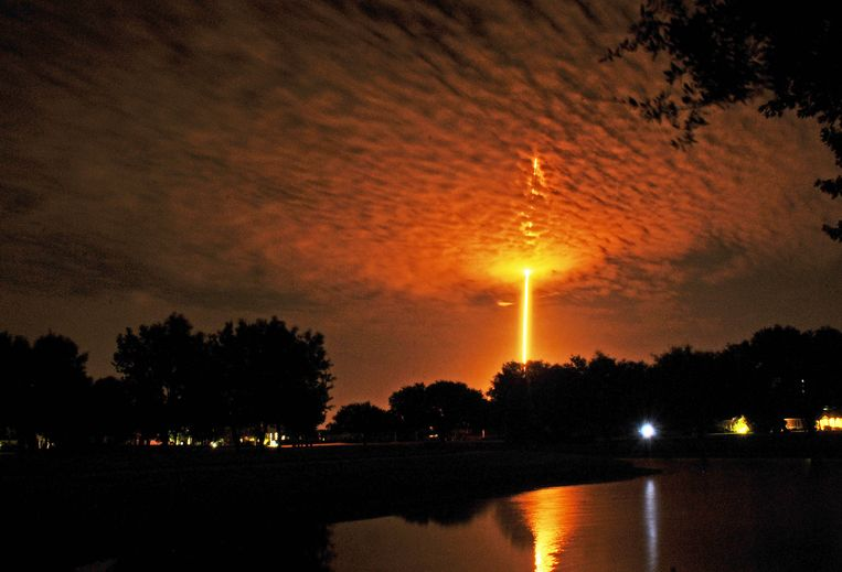 Een Falcon 9-lancering vanop Cape Canaveral. Beeld AP