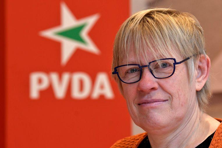 Maria Vindevoghel is PVDA-lijsttrekker voor de Kamerlijst in Brussel. Beeld Photo News