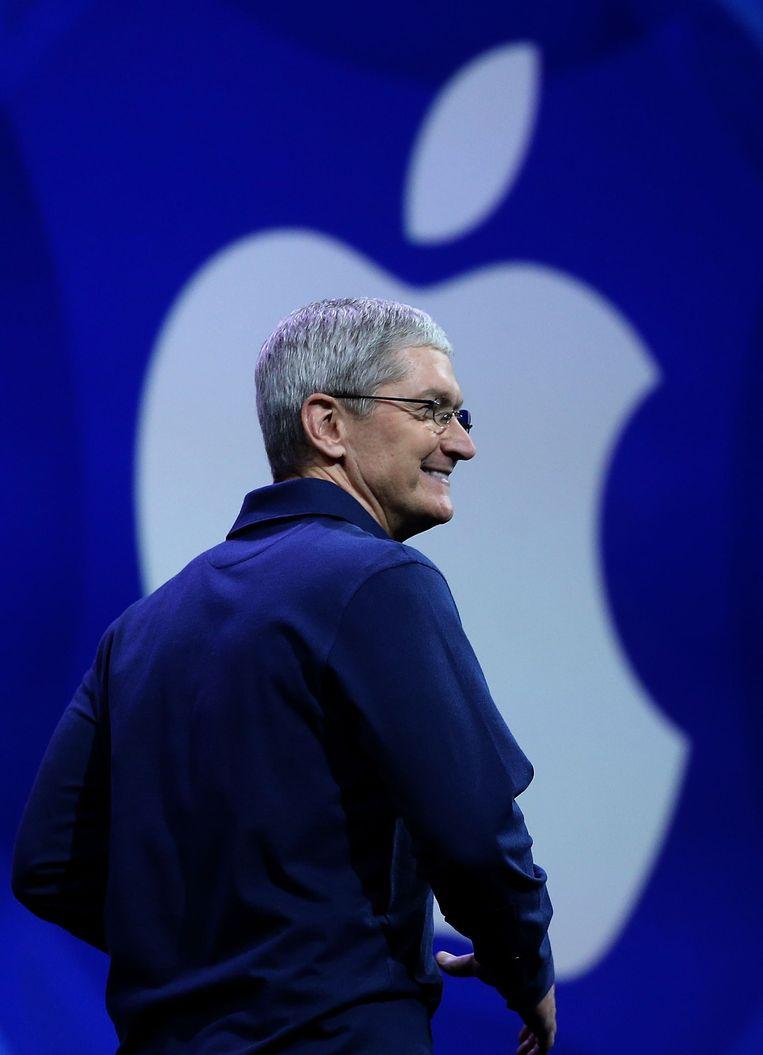 Apple-topman Tim Cook. Beeld afp