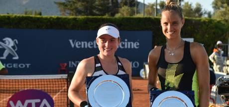Nederlandse tennisster Rus verovert dubbelspeltitel in Linz