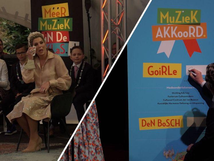 Koningin Máxima in tranen tijdens muzikale rondreis in Nederland