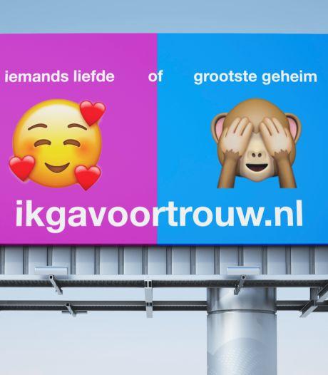 Winnend SGP-billboard is niet de door de Gaykrant 'gekaapte' versie