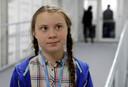 Greta Thunberg (15) op de dag van haar toespraak.