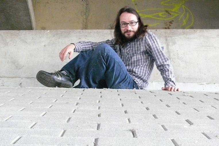 David Troch, uitvinder van het eenlettergreepgedicht. Beeld rv