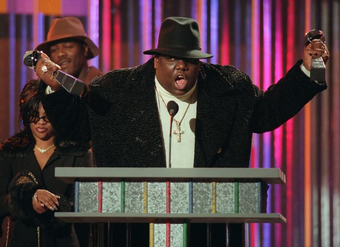 The Notorious B.I.G. op de Billboard Music Awards (New York) in 1995.