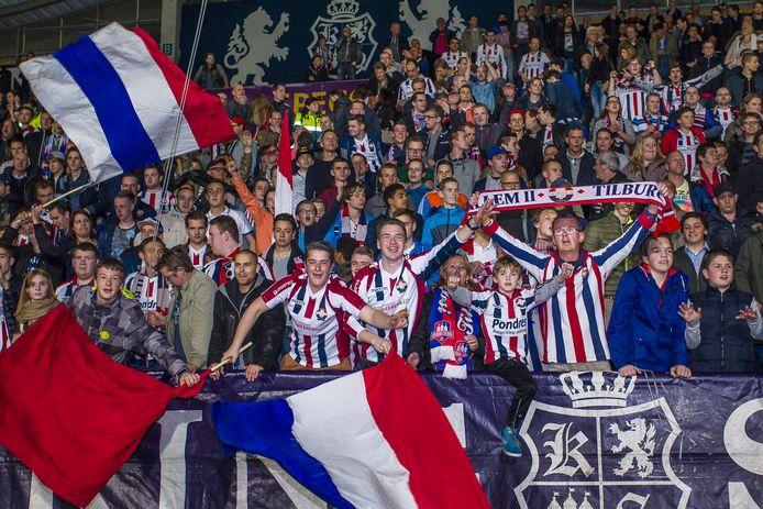 De KingSide, normaal gesproken een uiterst sfeervol vak tijdens thuiswedstrijden van Willem II, moet zondag leeg blijven vanwege vuurwerkincidenten bij vorige duels.