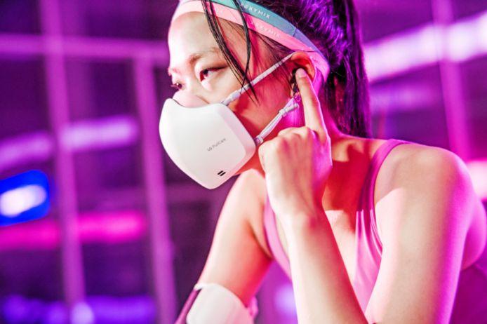 De LG PuriCare Wearable Air Purifier bevat ingebouwde ventilatoren.
