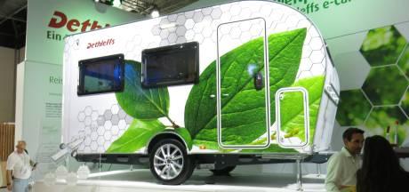 Deze caravan kan door elke auto getrokken worden en is binnenkort te koop