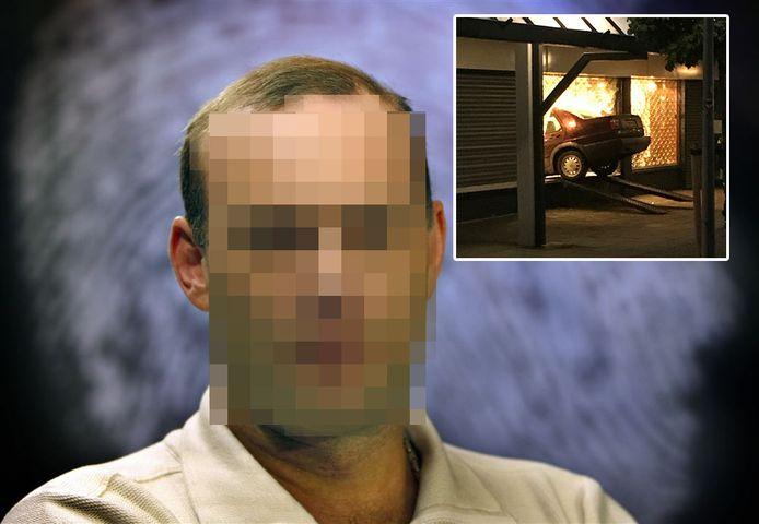 Patrick van der E. wordt verdacht van de ramkraak bij juwelier Maaskant in Apeldoorn.