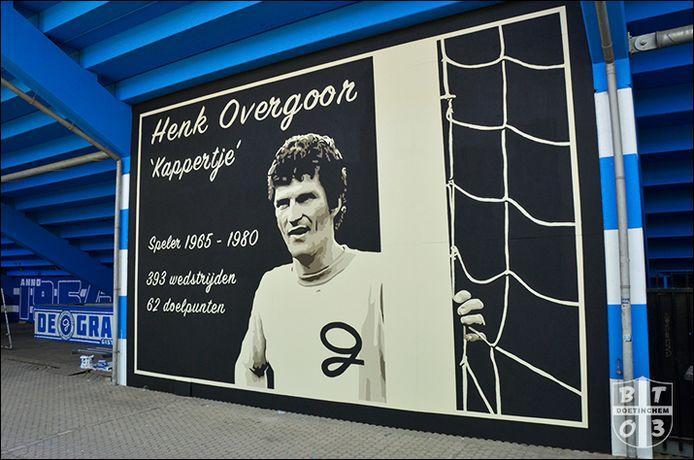 De wandschildering voor Henk Overgoor.