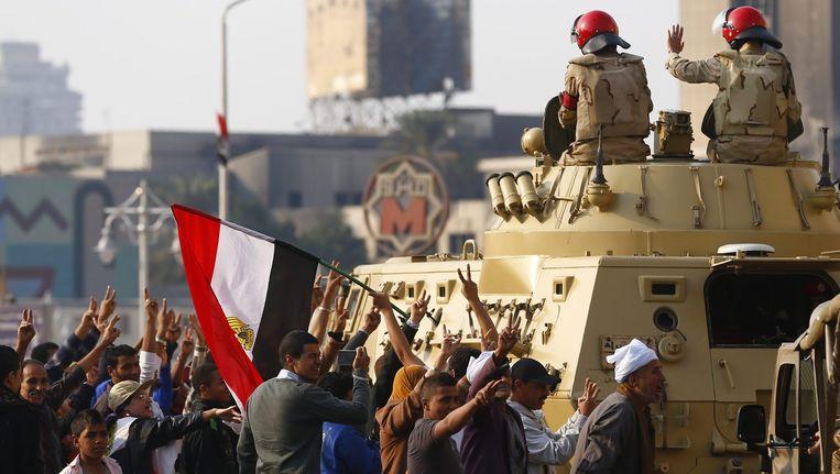 Protesterende islamisten in Caïro. Beeld REUTERS