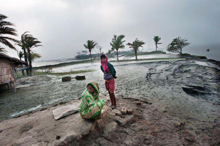 In After Us the Deluge toont documentair fotograaf Kadir van Lohuizen de dramatische impact van de stijgende zeespiegel op kustgebieden wereldwijd  Beeld Kadir van Lohuizen / NOOR