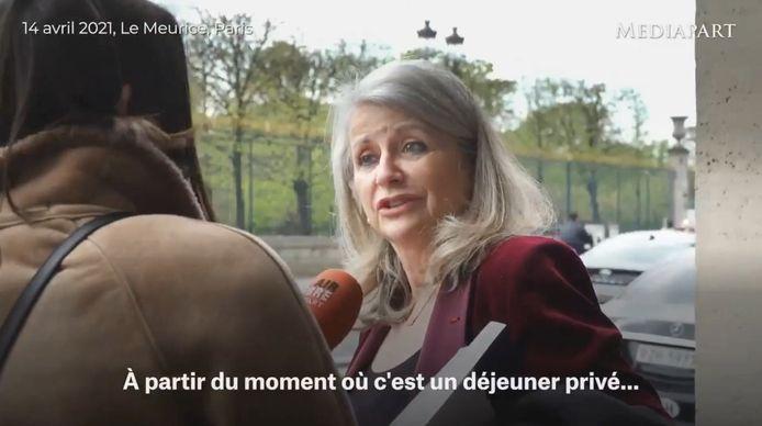 Senator Joëlle Garriaud-Maylam lunchte woensdagmiddag 14 april 2021 om 12.00 uur in Meurice, een van de beroemdste Parijse paleizen.