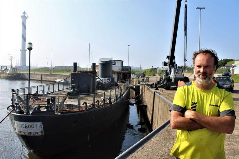 Eigenaar Vida Kovic bij Loodsboot 4.