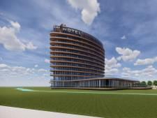 Zo komt Hotel Van der Valk naast de A28 in Hattem eruit te zien (40 meter hoog met 140 kamers)