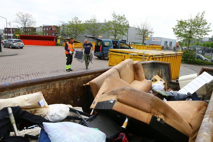 Afvalbrengstation van Waardlanden (archieffoto).
