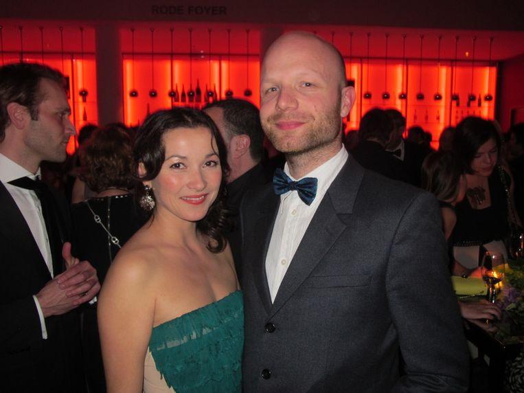 Birgit Schuurman en ontwerper Mattijs van Bergen. Beeld