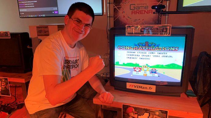 De Amerikaan Jonathan Tool-Charignon werd afgelopen week wereldkampioen Super Mario Kart.
