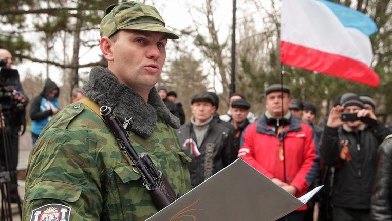 Pro-Russische Oekraïeners op de Krim Beeld ap
