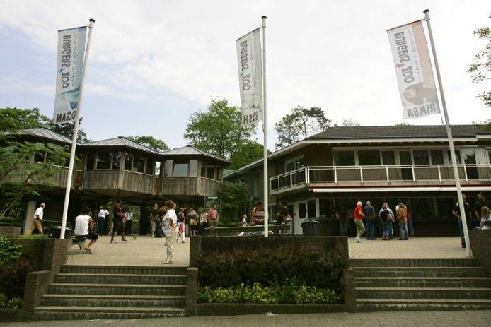 De entree van Burgers' Zoo in Arnhem. foto ANP