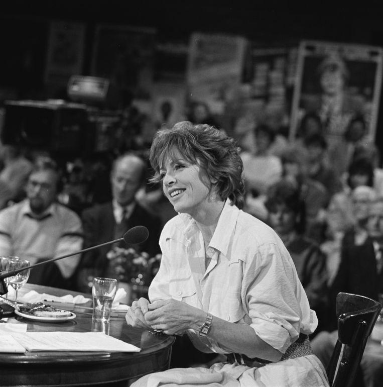 Sonja Barend in Sonja op zaterdag, april 1985. Beeld Hollandse Hoogte