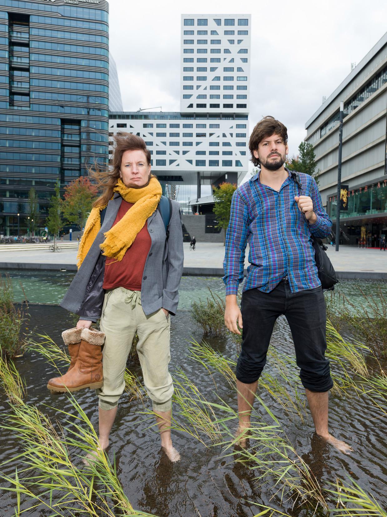 Tessel Hofstede (links) en Jelle de Graaf. Beeld Ivo van der Bent