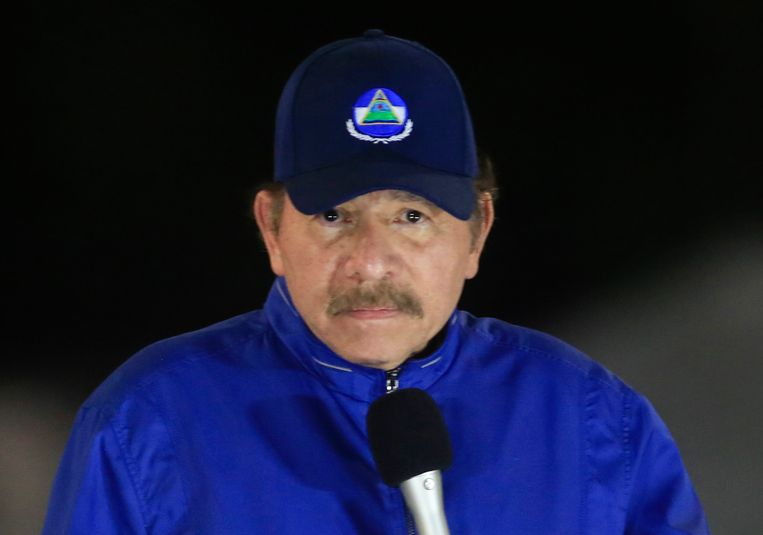 President Daniel Ortega hier op een archieffoto.  Beeld AP