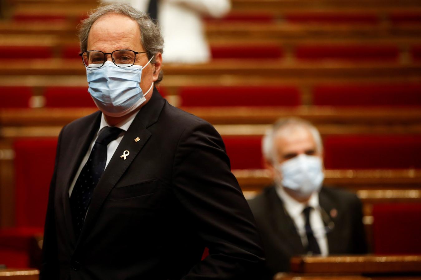 Quim Torra, le ministre-président de la Catalogne.