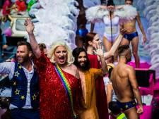 Conchita Wurst in jury botenparade Pride Amsterdam 2019