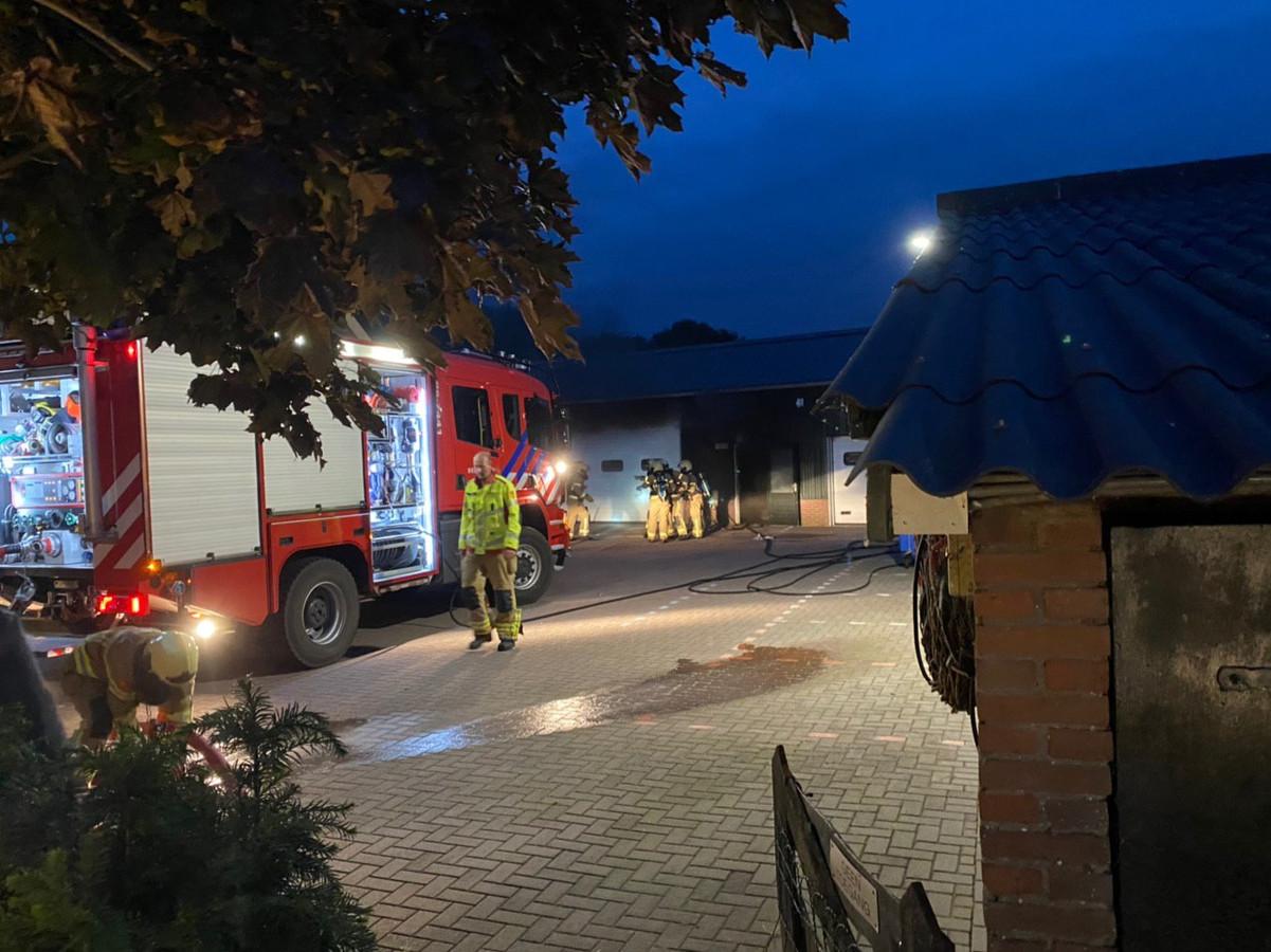 Woensdagavond ontstond brand in een loods in Putten.