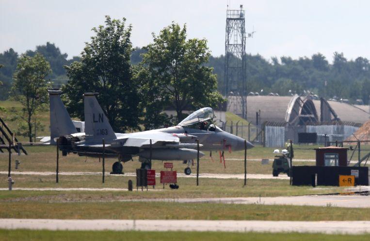 Een gevechtsvliegtuig van het type F-15c. Beeld AFP