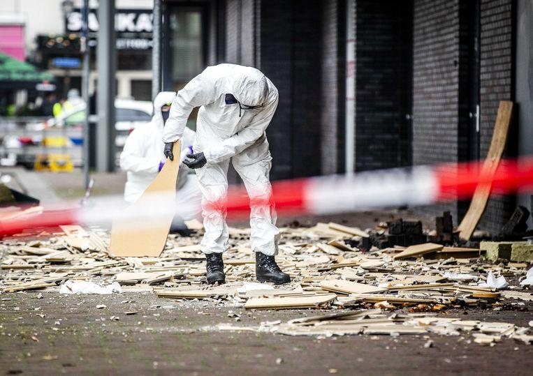 De Poolse supermarkt in Beverwijk werd woensdag ook al fors beschadigd door een explosie. Beeld ANP