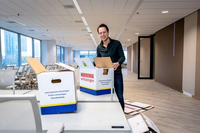 """Ceo Djordy Seelmann is momenteel druk met een nieuw kantoor voor zijn eigen HousingAnywhere. ,,We hebben nu 140 werknemers in dienst."""""""