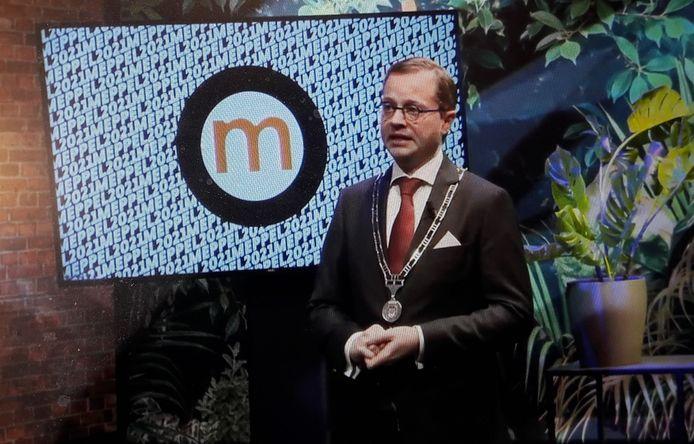 Burgemeester Richard Korteland schetste in zijn nieuwjaarsspeech een florissant toekomstbeeld voor Meppel.